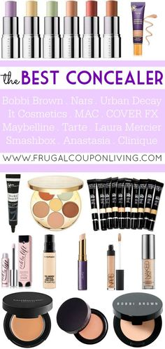 The Best Concealer for flawless skin - list created by some of the top sellers at your favorite make-up shops. See the whole round-up on Frugal Coupon Living.