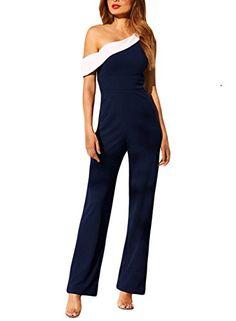Jmwss QD Women Casual Short Sleeve Jumpsuit Romper Solid Loose Wide Leg Long Pants