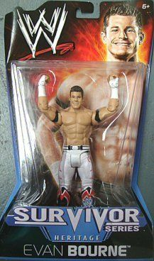"""WWE Evan Bourne 2010 Survivor Series Figure - Heritage Series PPV #10 by Mattel. $10.95. Features extreme articulation, amazing accuracy, and authentic details. Collect all your favorites WWE superstars. WWE Survivor Series - Heritage PPV Series #10 action figures in 6"""" Superstar Scale. Bring home the officially licensed WWE action. Kids can recreate their favorite WWE matches. From the Manufacturer                World Wrestling Entertainment Figure Collection: Bring ho..."""