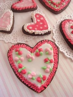 butter hearts sugar: Valentines Heart Cookies