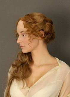 This would be such a romantic hairstyle for your big day. 19th century england, acient greece