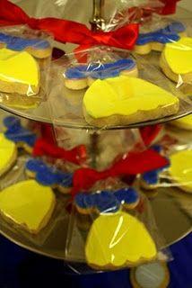 Snow White dress cookies