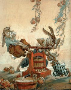 """Rabbits Making Cider"" - John R. Neill by docarelle (away for a while)"