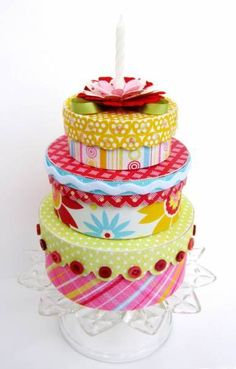 Altered Birthday Cake Boxes
