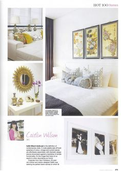 Caitlin Wilson...master bedroom, gray and gold, Asian accents
