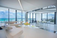 Zaha Hadid's lounge, Miami, 2016.