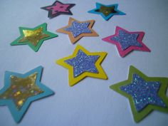 50 Paper Stars Die Cut by ang744 on Etsy, $2.00