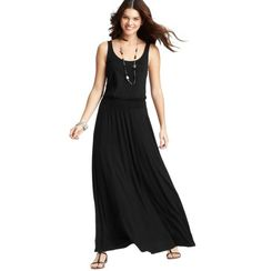 LOFT - Petite Tank Maxi Dress. A maxi dress for short people like me!  Can't wait to wear on vacation.
