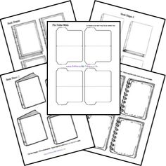 Free printable and foldable lapbook. Let the creativity