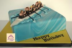 Rowing boat - Cake by EverythingsCake