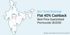 Best Price Guaranteed!! Flat 40% Cashback On All Bus Ticket Bookings @ http://goosedeals.com/home/details/paytm/133152.html