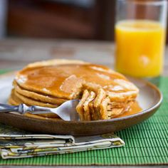 These classic DINNER pancakes are my favorite when we have breakfast for dinner. So soft and fluffy and just begging for maple syrup.
