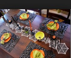 Cute Halloween table decorations
