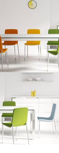 Fortuna/ Milano von MWA aktuell - Esszimmer weiß/ orange Pinterest - aktuelle trends esszimmer mobel modern