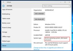 Microsoft gives you the 32-bit version of Windows 10 if you upgrade from the 32-bit version of Windows 7 or 8.1. But you canswitch to the 64-bit version, assuming your hardware supports it.