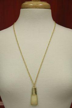 Square Tear Cream Necklace