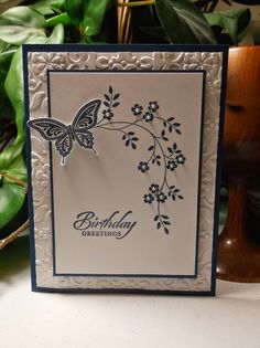 Rachel's Card Corner - Best of Butterflies, Wetlands, Thoughts & Prayers - Night of Navy - birthday card