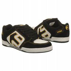 Etnies Charter Shoes (Black/White/Gold) - Men's Shoes - 7.0 M