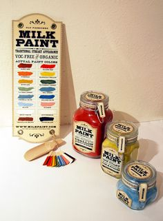 Milk paint, dry paint that comes in powder form - designed by Dawn Steinbock
