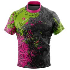 Scorpion Sports stock Day Of The Dead Rugby Shirt available in various sizes minimum 6 UK manufactured