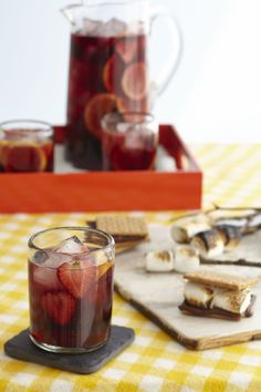 This #MemorialDay Weekend, have friends join you for a backyard BBQ with a pitcher of Stirrings Red Sangria. For 10 servings, mix 1 bottle of Stirrings® Red Sangria Cocktail Mixer, 1 bottle BV Coastal Estates® Merlot, California 2006, 1 bottle white zinfandel, & garnish with 3 sliced fresh cut fruits. #summer #bbq #cocktail #recipe #sangria #Stirrings #BVWines