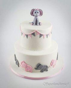 Tytön babyshower kakku