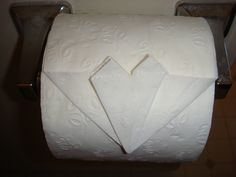 Toilet paper roll HEART folding - tutorial...will anyone notice??