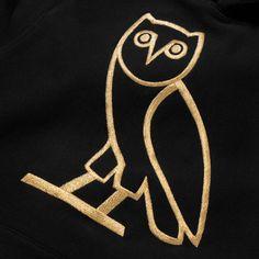OWL LOGO HOODY - BLACK