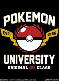 Pokemon University is available on t-shirts, hoodies, tank tops, and more until…