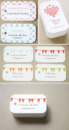 Items similar to Personalized Bunting Pennant Flag Gift Tags - Wedding Favor Tags - Thank you tags - Hang tags - Gift Tags - Set of 40 (Item code: on Etsy Custom Wedding Favours, Wedding Favor Tags, Craft Business, Business Card Design, Business Cards, Personalised Bunting, Craft Show Ideas, Love Design, Diy Design