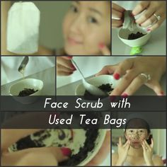 If you drink a lot of green tea and throw away the teabags (like we all do naturally): DON'T. You can get more use out of your green tea by converting it into a face scrub. This little scrub, combined with honey, which is great for hydrating