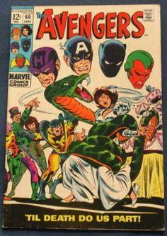 Avengers 60 - Captain America - Black Panther - Marvel - Marvel Comics - Hawkeye - John Buscema