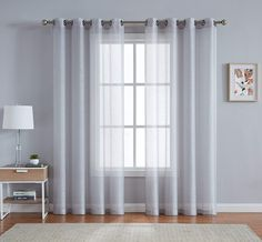 11 Best White Sheer Curtains - CountryCurtains White Sheer Curtains, Elegant Curtains, Sheer Curtain Panels, Patio Curtains, Lined Curtains, Door Curtains, String Lights In The Bedroom, Insulated Curtains, How To Make Curtains