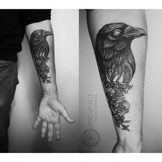 crow tattoo | The Belt Crow Tattoo by Positive Tattoo is dark and moody. very good ...