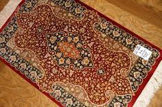 シルクのペルシャ絨毯玄関マット48021