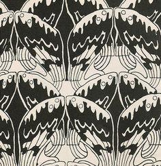 Josef Maria Auchentaller. Textile design, 1901.