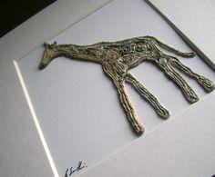Newspaper yarn giraffe by Zygote Gifts