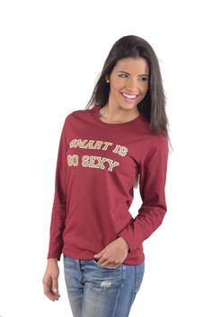 Women's SISS College Cotton Fit Long-Sleeve T-Shirt - FSU Garnet Gold Tee