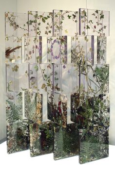 Patternbank | Tumblr /Sasha Sykes articulating screen foliage and flowers encased in resin and acrylic