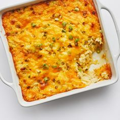 This Cheesy Potato Casserole Is Literal Decadence | Bon Appétit Potato Dishes, Vegetable Side Dishes, Potato Recipes, Vegetable Recipes, New Recipes, Holiday Recipes, Dinner Recipes, Cooking Recipes, Favorite Recipes