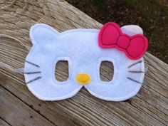 Hello Kitty Inspired mask Pretend Play by littleshepsters on Etsy, $8.00