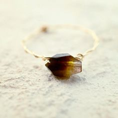 #mayumirings #goldfilled #accessories #jewelry #handmade #14kgf #ring #fall #autumn #tourmaline