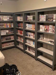 My New Room, My Room, Gaming Room Setup, Manga Collection, Kawaii Room, Gamer Room, Room Planning, Aesthetic Bedroom, Dream Bedroom