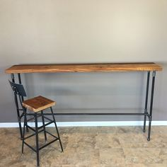 entry table hallway table nook table42 inch highbar height wood table 20 inch wide pipe table reclaimed wood