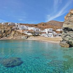 So impressive Agali beach , at Folegandros island ( Φολέγανδρος ) . The best way to enjoy the Greek summer sun ☀️ and swim into the crystal-clear water