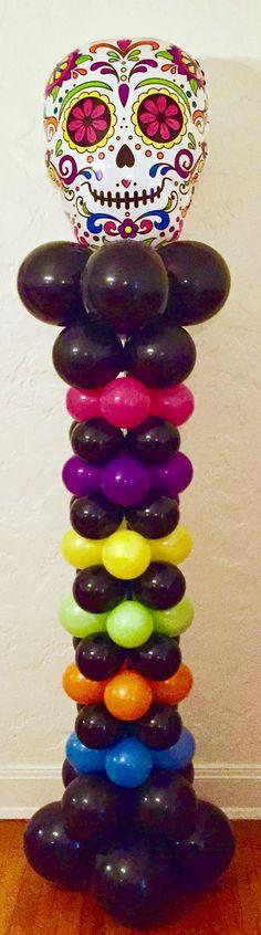 Dia De Los Muertos Globos / Day of the Dead Balloon Column
