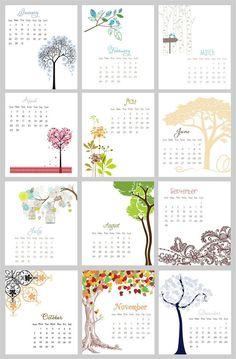 Desk Calendar 2012