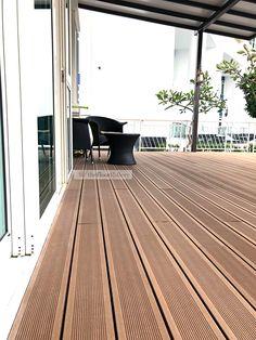 Eco Composite Wood Decking Supplies & Installation in Singapore Wpc Decking, Composite Decking, Outdoor Decking, Wood Deck Designs, Laval, Deck Lighting, Singapore, Solid Wood, Composition