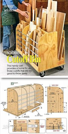 Mobile Cutoff Bin - Workshop Solutions Projects, Tips and Tricks | WoodArchivist.com