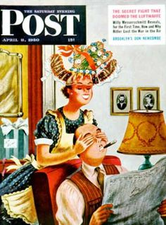 4/8/1950: New Hat : Saturday Evening Post Cover